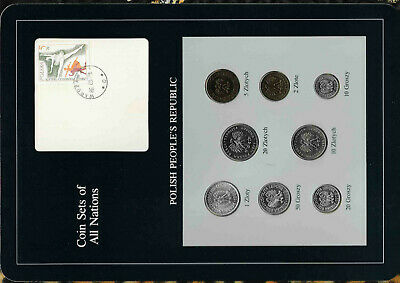 Coin Sets of All Nations Poland 1978-1985 UNC 2 Zloty 1979 10,20 Zlotych 1985