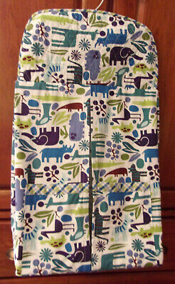 Kathy Crafted: QuiltedHangingDiaper Stacker with Shades of Blue Jungle Animals