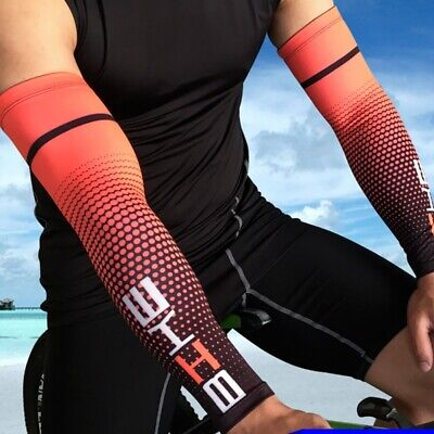 1Pair Ice Silk Cycling Arm Sleeve Wicking Sunscreen Protect Cover Outdoor Sports