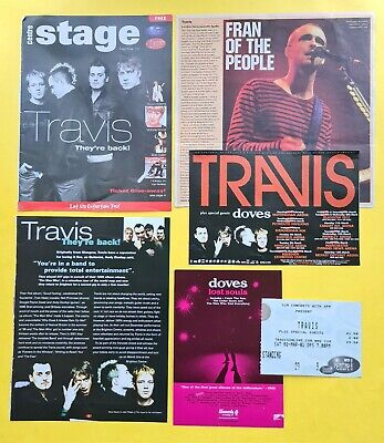 Travis & Doves 2002 ticket advert review Lost Souls promo card