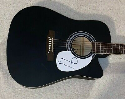Noel Gallagher Oasis Signed Autographed Full Size Black Acoustic Guitar W/Proof