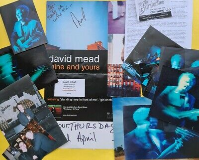SIGNED David Mead Mine and Yours tour poster London 2002, LOTS of photos
