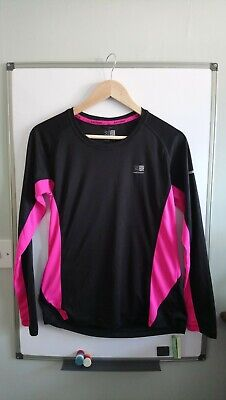 Karrimor running top, size 14. Long sleeve black & pink, excellent condition