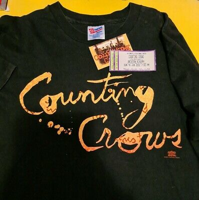 Counting Crows 1993 August & Everything After LP USA tour t-shirt 2002 UK Ticket