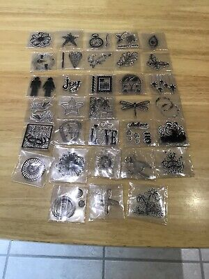 Job lot Clear Polymer Stamps