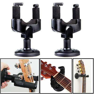 2 PACK Guitar Hanger Hook Holder Wall Mount Display Acoustic or Electric