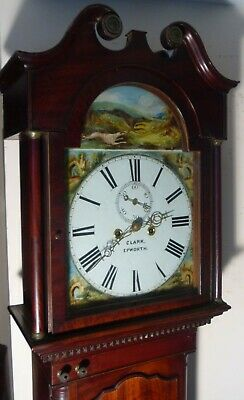 "Antique Mahogany Hunting Dial ""  Epworth ""  Longcase / Grandfather Clock"