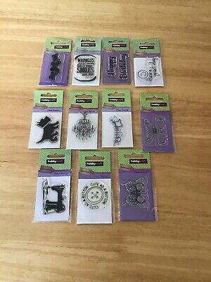 Job lot Clear Polymer Stamps By Hobbycraft