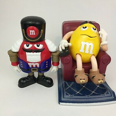 M&M's Nutcracker Sweet Red Blue & Recliner Chair on Rug Candy Dispenser Yellow