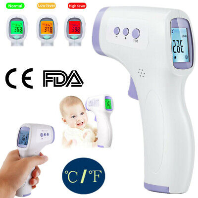 Non-Contact Infrared Digital Forehead Thermometer Baby Adult Temperature Gun KET