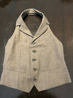 Authentic Ralph Lauren Girls 100% Wool Waistcoat Gilet 7Y