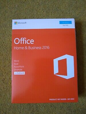Microsoft Office Home and Business 2016 - Retail Box