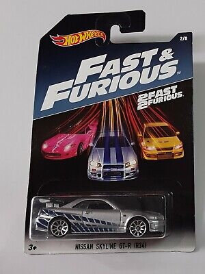 "🚦Hot Wheels Nissan Skyline GT-R34 Fast And Furious ""Paul Walker"" (Brian).🚦"