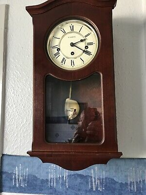 H samuel Westminster Mechanical Chiming Wall Clock Working Well With Key