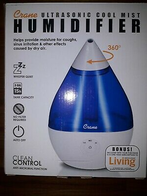 0.5 Gal. Droplet Ultrasonic Cool Mist Humidifier for Small to Medium Rooms up to 250 sq. ft. BlueWhite