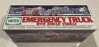 2005 Hess Fire Truck with Rescue Vehicle - Mint In Box