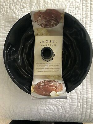 Williams Sonoma Nordic Ware Rose Shaped Bundt Pan 10 Cups Made In USA NEW