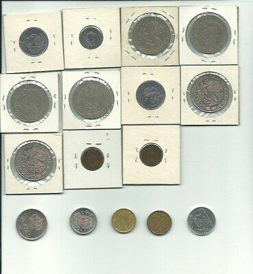 Bulk Lot -16 Assorted MEXICO,SPAIN & NORWAY Coins - Nice Mix! FREE USA SHIPPING!