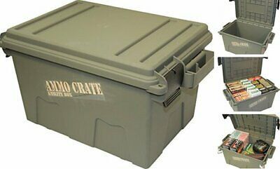 Military Ammo Box Ammunition Crate Utility Box Plastic Ammo Storage Case 65 LBs