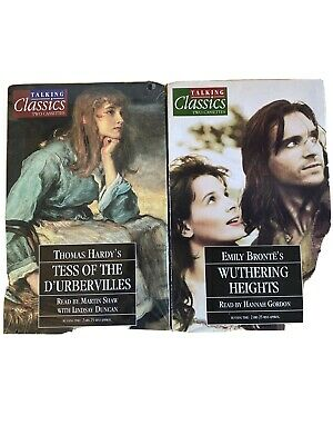 2 TALKING CLASSICS 4 CASSETTES TESS OF THE D'URBERVILLES and Wuthering Heights