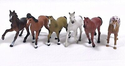 "Lot of 6 Toy Horses 3.5"" - 2007 1855 P1, P2, P3, P4, P5"