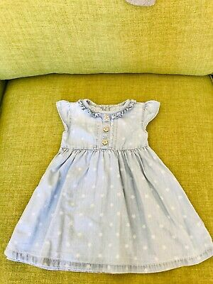Baby Girls Summer Dresses X2 And Frilly Knickers Hats Next George Age 6-9 Mths