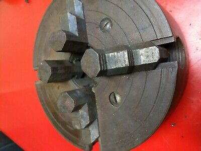 "8"" INDEPENDENT 4-JAW LATHE CHUCK with 1-1/2"" x 8 TPI no key"