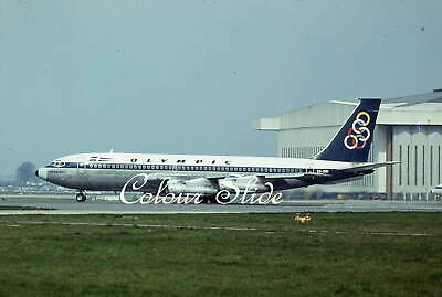 Olympic Boeing 720-051B SX-DBI, Heathrow, 4.75, Colour Slide, Aviation Aircraft