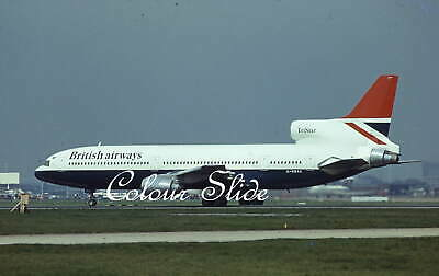 British Airways Lockheed L1011-100 G-BBAE, 4.75, Colour Slide, Aviation Aircraft