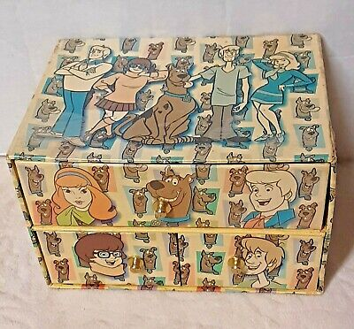 Rare Scooby Doo 3 Drawer Jewelry Box / Trinket Box Vintage 2000