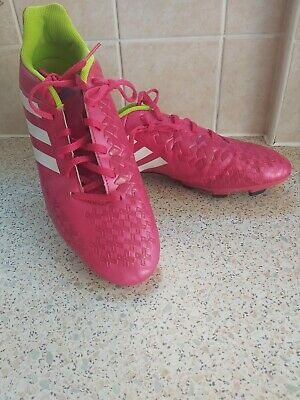 Adidas Size 10 Football Boots Pink
