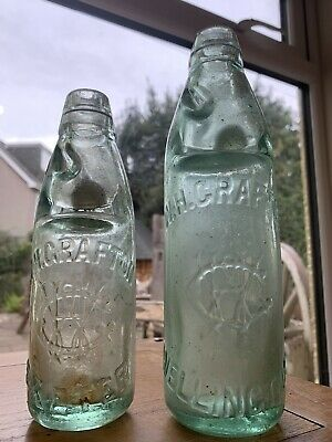 W.h Grafton Exeter & Wellington ( Somerset & Devon ) Codd Bottles X2