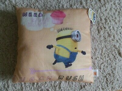 Despicable Me Minions Sugar Rush Cushion, New with label