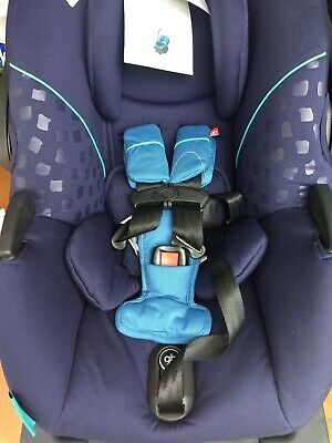 New (2016) GB Gold Asana dark blue Infant Car Seat with load leg Base