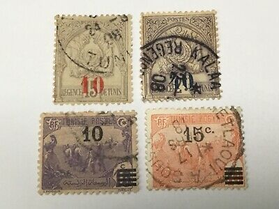 old stamps TUNISIA   x 4