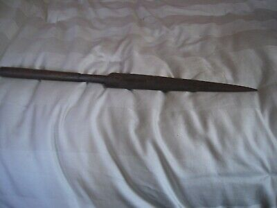 Antique Hand Forged Iron Hunting Spear Head