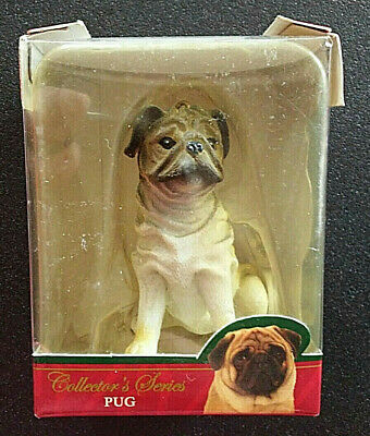 Pug Dog Ornament American Canine Association Collectors Series 2 Resin With Box