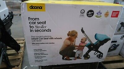 Doona Infant Car Seat with Latch Base - Cherry, NEW