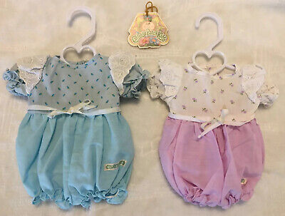 2 Preemie Cabbage Patch Kids Clothes Vintage Doll Cpk Outfit Newborn Lot Girl