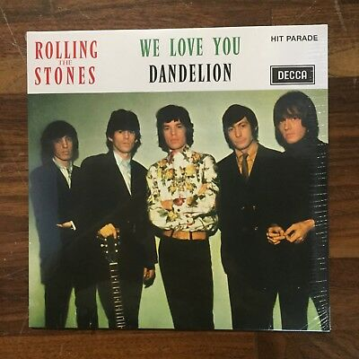"""Rolling Stones – We Love You / Dandelion French RE remastered MONO 7"""" 45 LTD ED"""