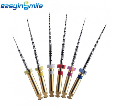 6 Files EASYINSMILE X-Taper Endo NITI Engine Files Endodontic Rotary Files (25MM