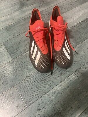 adidas X 19.1 FG , SIZE 10.5 Uk Red/black/white used football boots