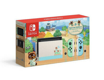 NEW AMAZON Nintendo Switch Animal Crossing: New Horizons Edition Console LIMITED