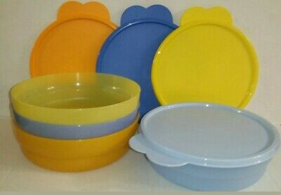 SALE! Tupperware 4pc Microwavable Cereal Bowlsw/Air Tight Seals