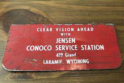 Vintage Conoco Jensen Service Station Laramie WY Advertising Windshield Cleaner