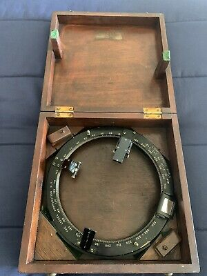 Vintage Type 712A Azimuth Circle In Wooden Box