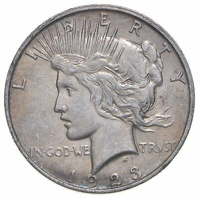 Early - 1923-D - Peace Silver Dollar - 90% US Coin *385