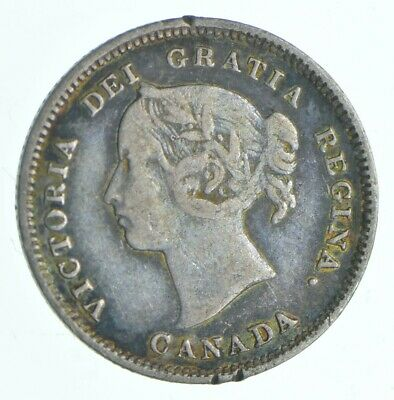 1886 Canada 5 Cents - Charles Coin Collection *459