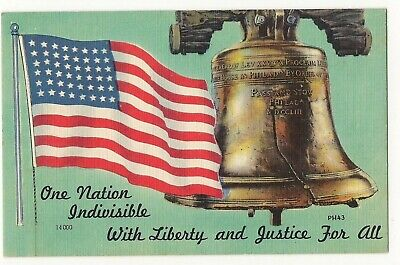 48 Star US Flag and Liberty Bell.