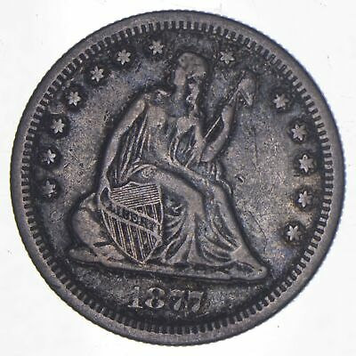 1877-S Seated Liberty Quarter - Charles Coin Collection *937